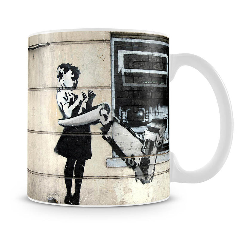 Banksy Cash Machine Girl Mug - Canvas Art Rocks