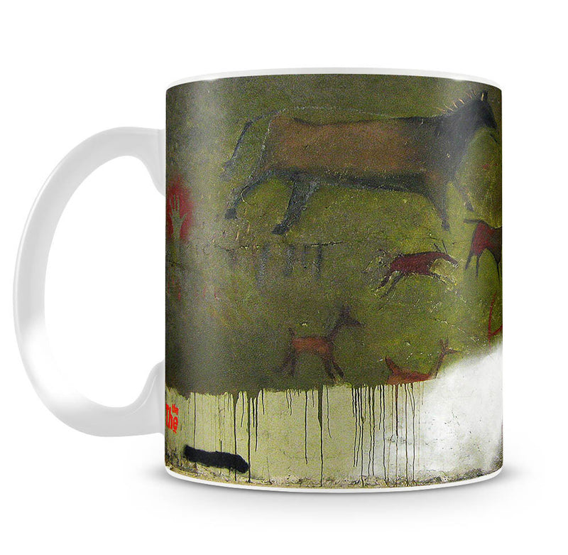 Banksy Cave Graffiti Removal Mug - Canvas Art Rocks