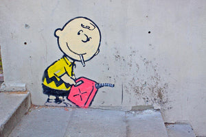 Banksy Charlie Brown - Naughty Boy Wall Mural Wallpaper - Canvas Art Rocks - 1