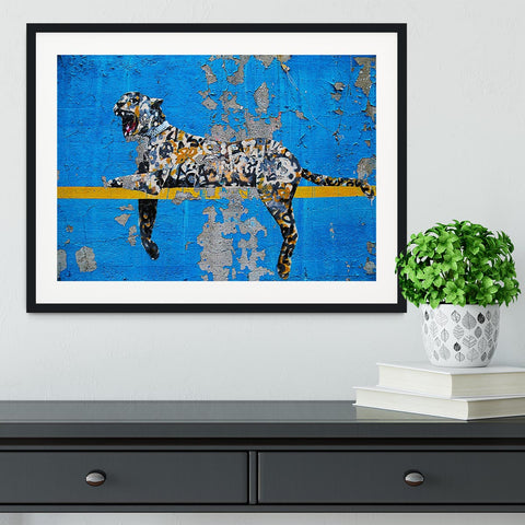 Banksy Cheetah Framed Print - Canvas Art Rocks - 1