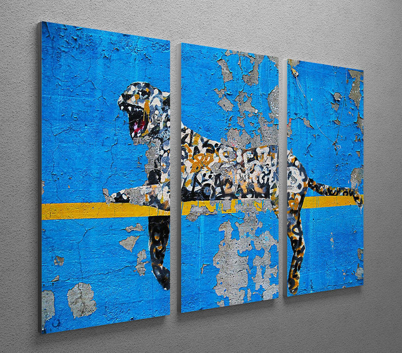 Banksy Cheetah 3 Split Canvas Print - Canvas Art Rocks
