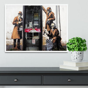 Banksy Cheltenham Telephone Box Spies Framed Print - Canvas Art Rocks -6