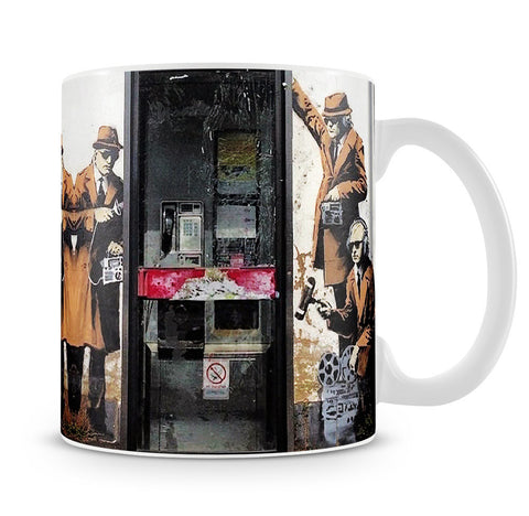 Banksy Cheltenham Telephone Box Spies Mug - Canvas Art Rocks