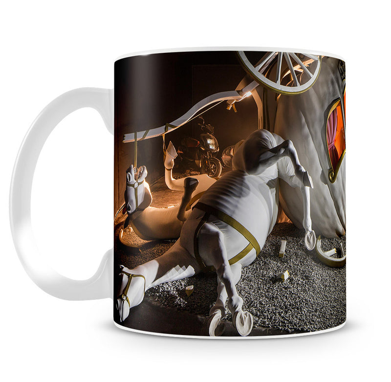Banksy Cinderella Carriage Mug - Canvas Art Rocks