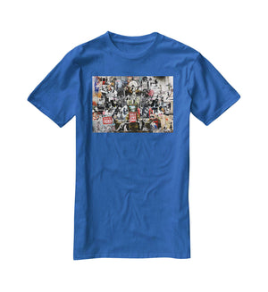 Banksy Collage T-Shirt - Canvas Art Rocks - 2