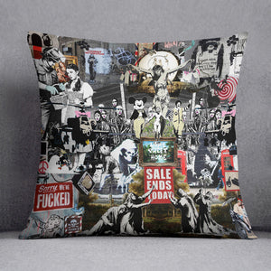 Banksy Collage Cushion