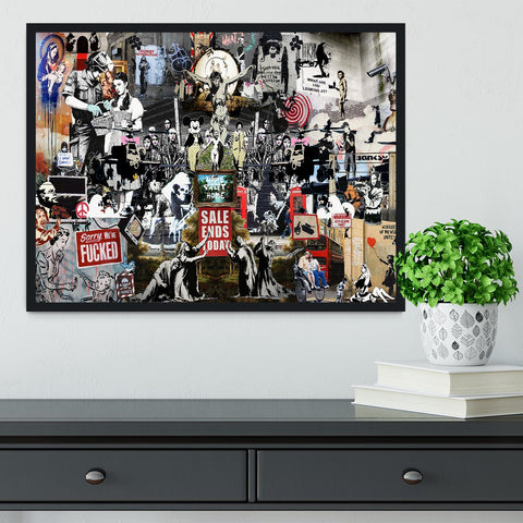 Banksy Collage Framed Print - They'll Love Wall Art - 1