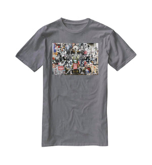 Banksy Collage T-Shirt - Canvas Art Rocks - 3