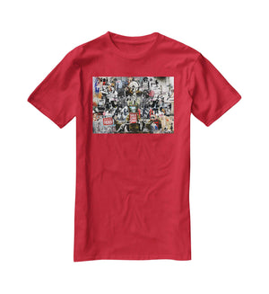 Banksy Collage T-Shirt - Canvas Art Rocks - 4