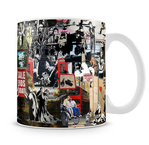 Banksy Collage Mug