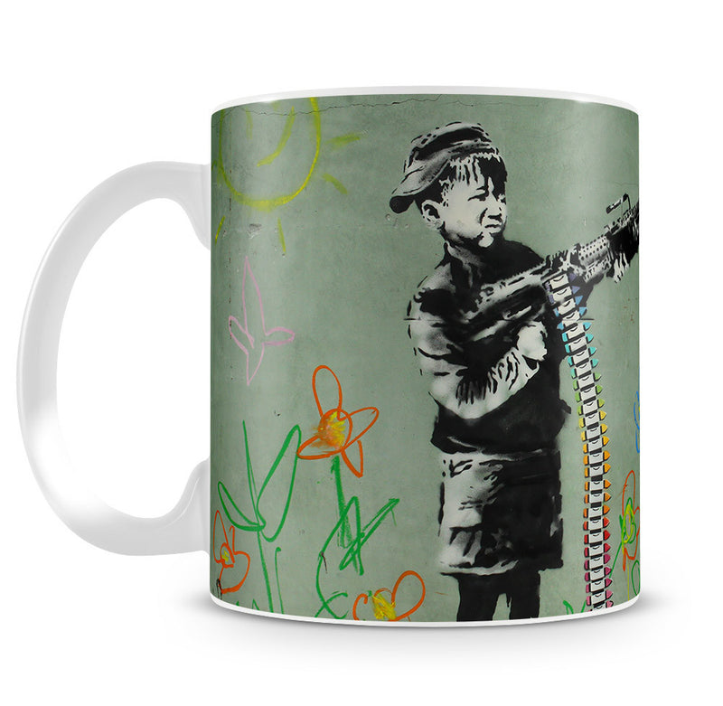 Banksy Crayon Child Soldier Mug - Canvas Art Rocks