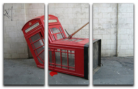 Banksy Death of a Phone Booth 3 Split Panel Canvas Print