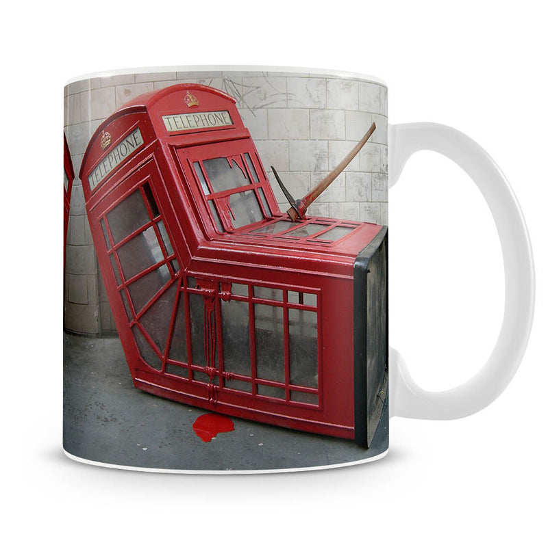 Banksy Death of a Phone Booth Mug - Canvas Art Rocks
