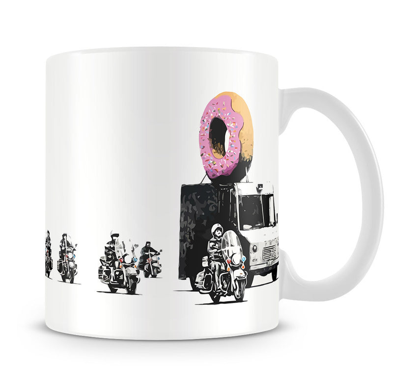 Banksy Doughnut Police Escort Mug - Canvas Art Rocks