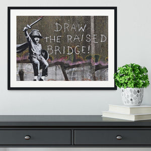 Banksy Draw The Raised Bridge Framed Print - Canvas Art Rocks - 1