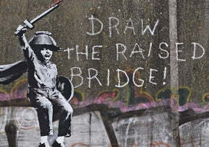 Banksy Draw The Raised Bridge Wall Mural Wallpaper - Canvas Art Rocks - 1