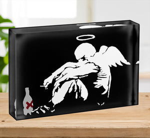 Banksy Fallen Angel Acrylic Block - Canvas Art Rocks - 2