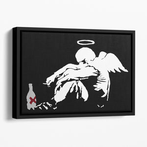 Banksy Fallen Angel Floating Framed Canvas