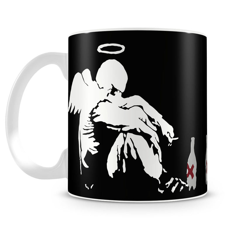 Banksy Fallen Angel Mug - Canvas Art Rocks