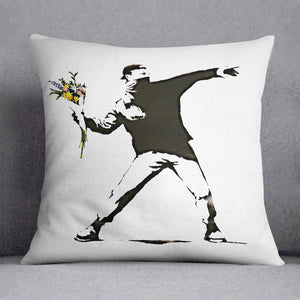 Banksy Flower Thrower Cushion
