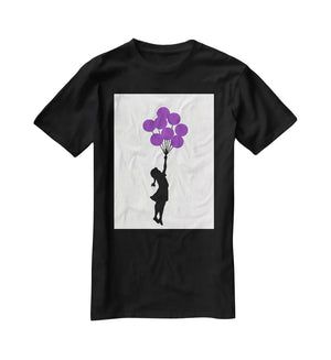 Banksy Flying Balloon Girl T-Shirt - Canvas Art Rocks - 1