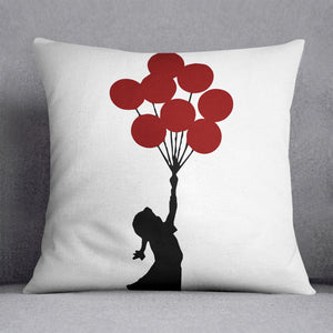 Banksy Flying Balloon Girl Cushion