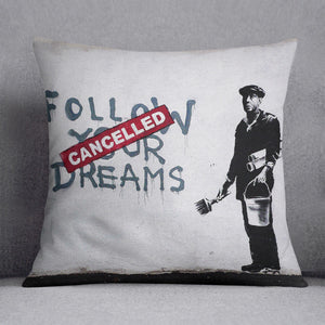 Banksy Follow Your Dreams Cushion