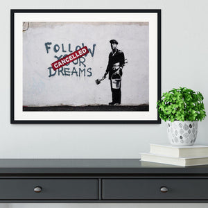 Banksy Follow Your Dreams Framed Print - Canvas Art Rocks - 1