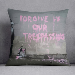 Banksy Forgive Us Cushion