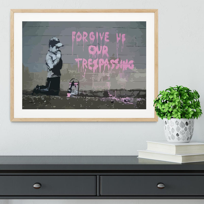 Banksy Forgive Us Framed Print - Canvas Art Rocks - 3