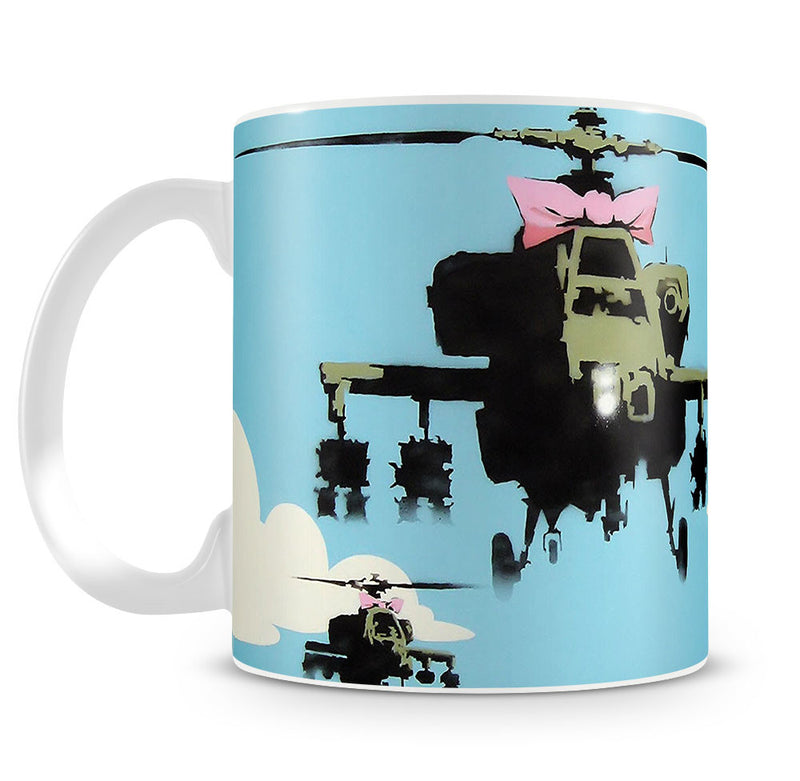 Banksy Friendly Helicopters Mug - Canvas Art Rocks
