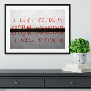 Banksy Global Warming Framed Print - Canvas Art Rocks - 1