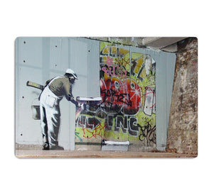 Banksy Graffiti Wallpaper HD Metal Print