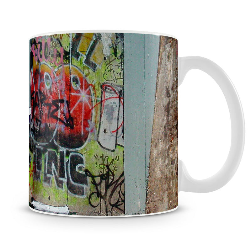 Banksy Graffiti Wallpaper Mug - Canvas Art Rocks