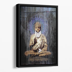 Banksy Injured Buddha Floating Framed Canvas
