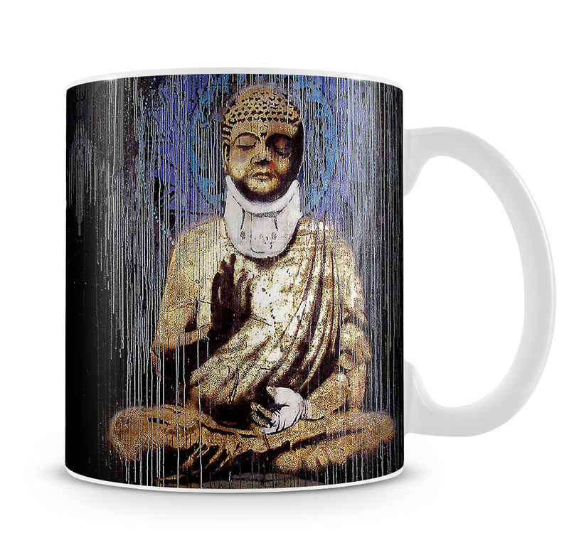 Banksy Injured Buddha Mug - Canvas Art Rocks