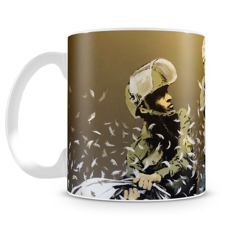 Banksy Israeli & Palestinian Pillow Fight Mug - Canvas Art Rocks