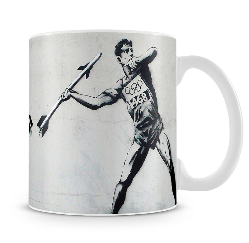 Banksy Javelin Thrower Mug - Canvas Art Rocks
