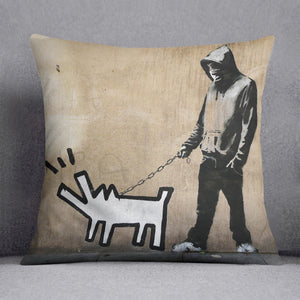 Banksy Keith Haring Dog Cushion