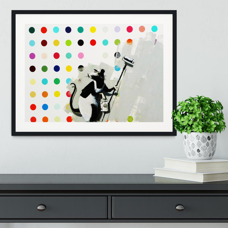 Banksy LSD Damien Hirst Framed Print - Canvas Art Rocks - 1
