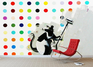 Banksy LSD Damien Hirst Wall Mural Wallpaper - Canvas Art Rocks - 2