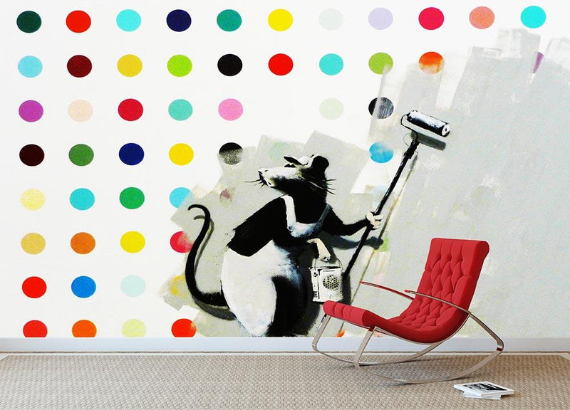 Banksy LSD Damien Hirst Wall Mural Wallpaper - Canvas Art Rocks - 1