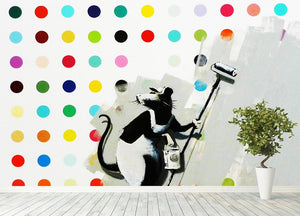 Banksy LSD Damien Hirst Wall Mural Wallpaper - Canvas Art Rocks - 4