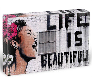Banksy Life is Beautiful - Version 2 Acrylic Block