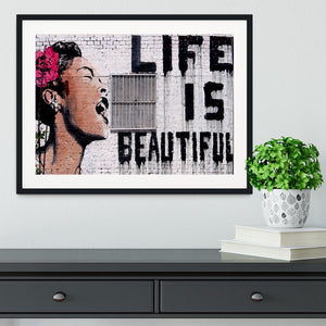 Banksy Life is Beautiful  - Version 2 Framed Print