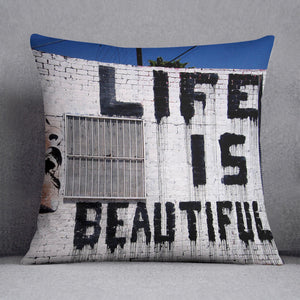 Banksy Life is Beautiful Cushion