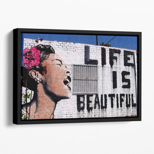 Banksy Life is Beautiful Floating Framed Canvas