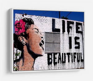 Banksy Life is Beautiful HD Metal Print