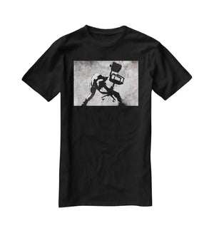 Banksy London Calling T-Shirt - Canvas Art Rocks - 1