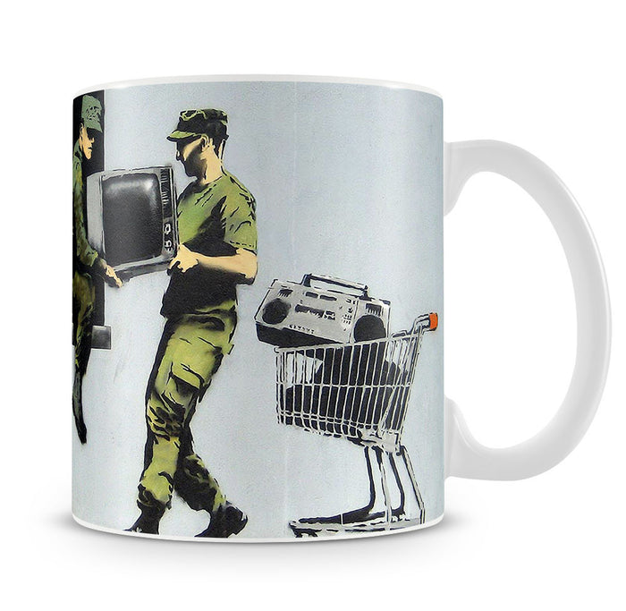 Banksy Looting Soldiers Mug
